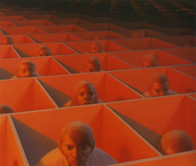 Landscape with Figures, George Tooker, 1965-66