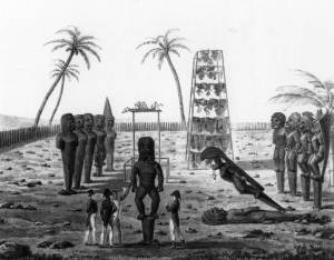 Heiau (Temple), Hawaiian, 1819