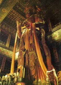 Maitreya Buddha in Wanfu Tower of the Yonghe Temple, Qing Dynasty, 1694