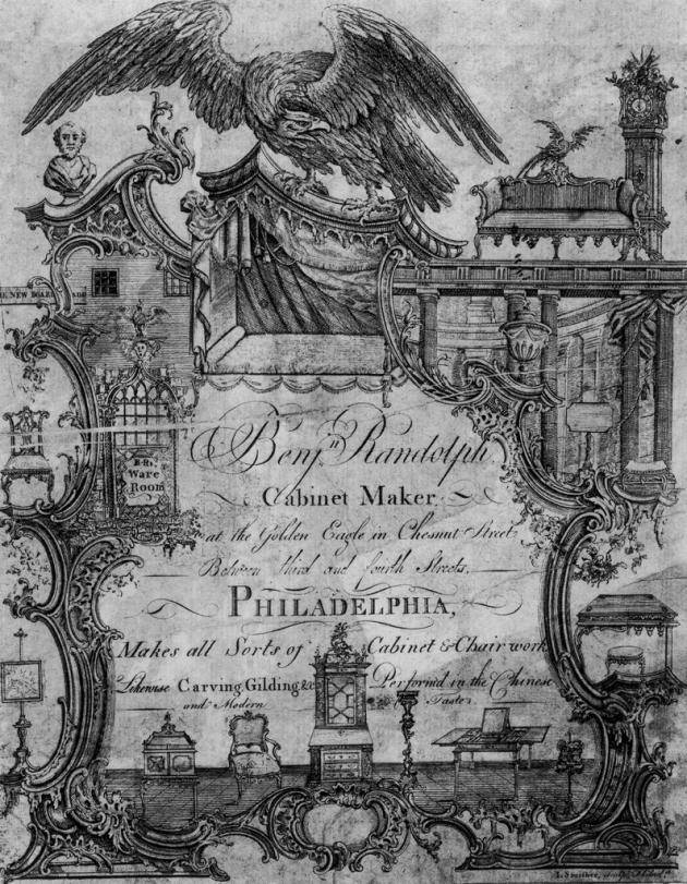 Trade Card of Benjamin Randolph, James Smither, 1769