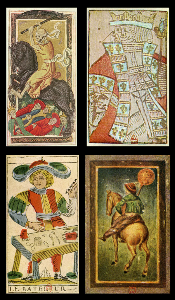 Antique Tarot Card The Fool: Antique Tarot Cards